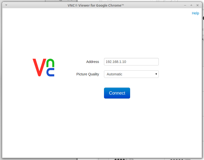 VNC Viewer for Google Chromeで、Chromebook, Chromium OSでも