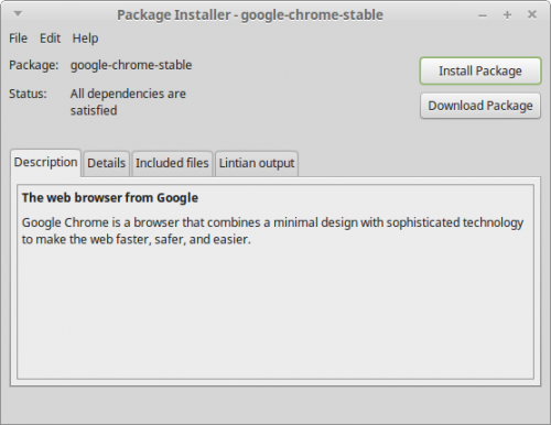 Screenshot-Package Installer - google-chrome-stable